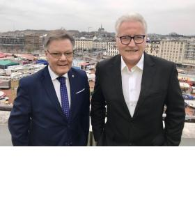 Daniel Sormanni et Luc Barthassat: «On est très complémentaire», dit l'ex-PDC. FRANCIS HALLER