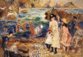 Renoir beach scene - HumanSeeHumanDo