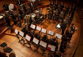 La majorité des musiciens du Brass Band Arquebuse étudient à la Haute Ecole de Musique de Genève. JP CHEVAILLER