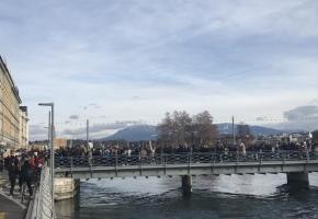 Le 18 janvier, près de 5000 jeunes avaient participé à une grande marche pour le climat. GIM