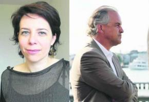 Les conseillers administratifs Sandrine Salerno et Rémy Pagani.