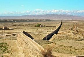 Dernière passe occidentale de la Grande Muraille de Chine (Jiayuguan).