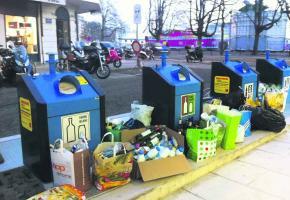 Bennes de recyclage: le bide à Plainpalais