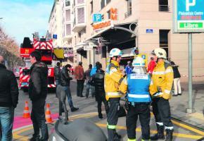 Grosse panique à la rue de Carouge suite à l'évacuation du Centre commerccial.