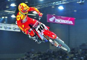 Justin Brayton, vainqueur des deux dernières édition, en pleine action.