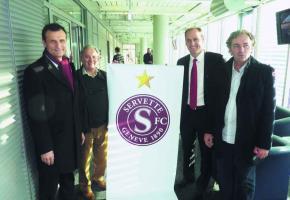 Jean-Marie Fleury, éditeur de GHI et Hugh Quennec, président du Servette FC.