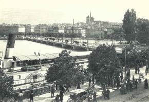 Le pont du Mont Blanc en 1890.