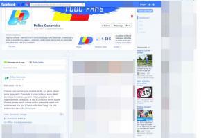 La page Facebook avec le vrai logo de la police genevoise.