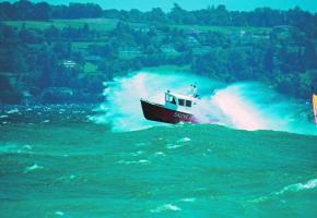 Les sauveteurs du Petit Lac prêts et prompts à intervenir.
