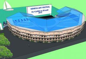 Le Festival sera hébergé dans une infrastructure aux allures d'arène romaine couverte.