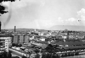 Les abattoirs étaient situés le long du quai Ernest-Ansermet. BIBLIOTHèQUE DE GENèVE