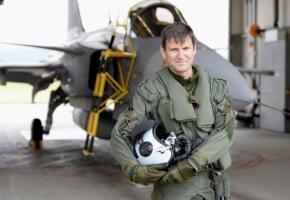 Le colonel Fabio Antognini a piloté à plusieurs reprises le chasseur controversé. DR