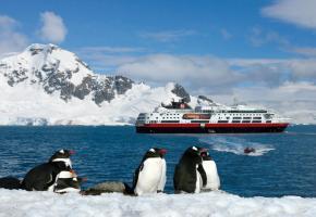 Les pingouins font figure de stars en Antarctique. ANDREA MEADER Le Zodiac permet de louvoyer dans les zones les plus inaccessibles . ANDREA MEADER La nature se plaît à sculpter les plus belles structures glacées. ANDREA MEADER