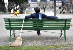 Nettoyer des parcs plutôt que d'aller en prison?  Une sanction rarement appliquée. PASCAL BITZ