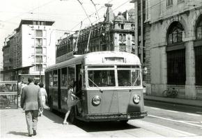 Trolleybus dans le quartier de Bel-Air. ERIC RAHM