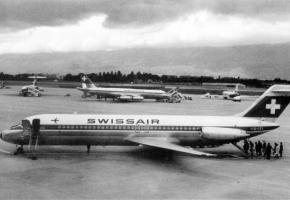 L'aéroport de Cointrin en 1970, tiré du livre  de René Hug, «L'Avion à Genève». DR