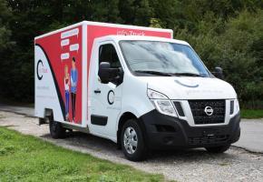 L'info-Truck prêt pour informer de manière ludique et interactive. DR