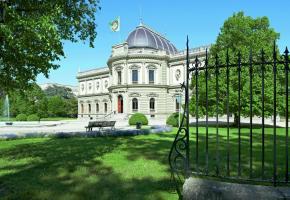 Le palais et l'immense domaine de Gustave Revillod ont été légués à la Ville après la mort du mécène genevois en 1890. VILLE DE GENèVE/R. GINDROZ