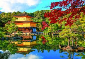 Le temple du Pavillon d'or (Kinkaku-ji), une merveille flottante. PHOTOS SHUTTERSTOCK
