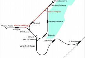 A gauche, le contre-projet proposé par l'ingénieur Rodolphe Weibel. A droite, le projet de l'Etat en deux étapes qui vont suivre la mise en service du Léman Express. DR