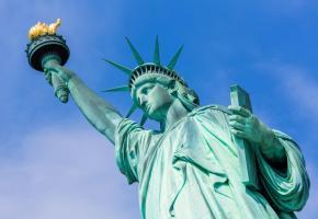 La statue de la Liberté à New York, un des symboles du libéralisme. Certains réclament un retour du projet commun. 123RF/LUCIANO MORTOLA