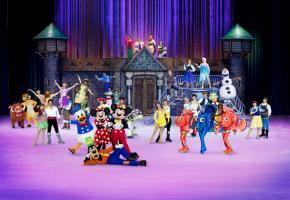 Des patins, des personnages attendrissants, des histoires magiques, c'est la recette de Disney sur glace. DR