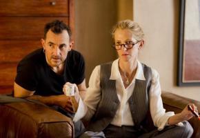 Albert Dupontel et Sandrine Kiberlain dans «9 mois ferme». DR