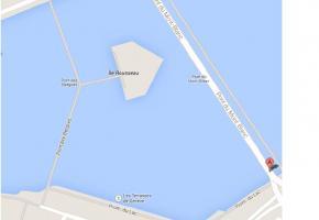 Le plan de la Rade proposé sur le net par Google Maps. DR.