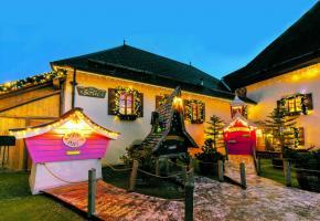 Le hameau du Père Noël, situé au Mont-Sion, en France voisine. M. MORAVSKI