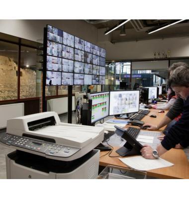 Le centre de contrôle de St-Antoine. Dans un futur proche, la récolte des données permettra de trouver plus facilement une place de parc. FONDATION DES PARKINGS