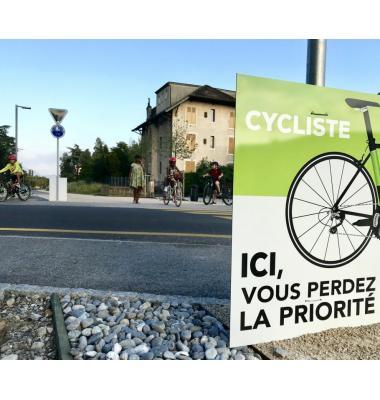 Les intersections de la Voie verte seront mieux sécurisées. FRANCIS HALLER