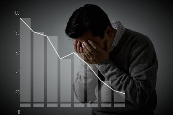 Au cours du second semestre 2020, les procédures de faillites personnelles ont presque atteint le demi-millier dans le canton de Genève. 123RF/YOUICHI4411