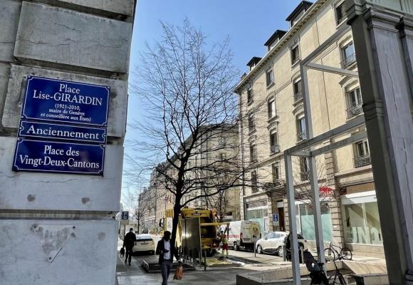 La place des Vingt-Deux-Cantons rebaptisée en l'honneur de la première femme maire