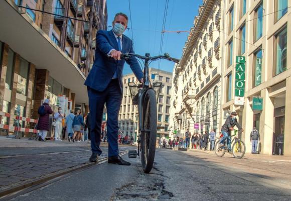 Vincent Subilia, directeur général de la Chambre de commerce, déplore «l'image dégradée de la principale artère commerçante» de Genève.