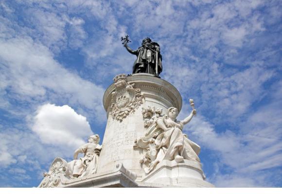 Statue de la place de la République à Paris. «Je suis réactionnaire, mais je me bats