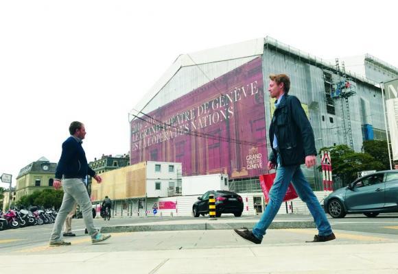 La subvention allouée au Grand Théâtre, actuellement en rénovation, est d'environ  50 millions de francs. FRANCIS HALLER