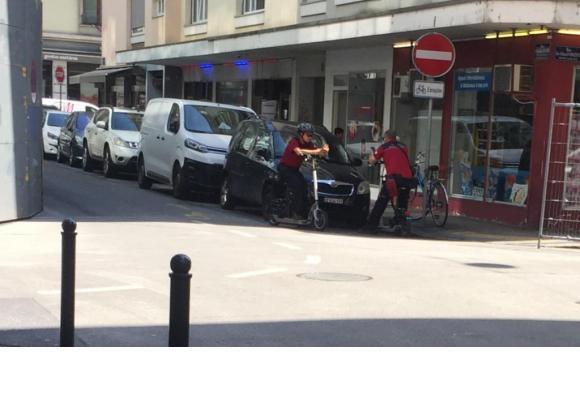 Verra-t-on un jour des brigades de contractuels sillonner les rues de la ville à trottinette électrique? DR