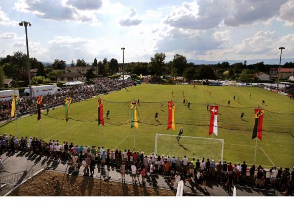 Stade du Village en 2013, Veyrier Sports rencontrait l'équipe de Young Boys… DR