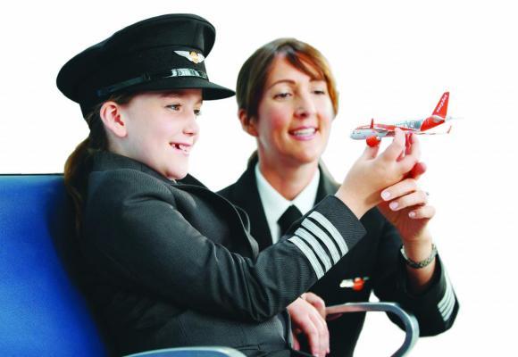 Easyjet espère atteindre 20% de nouveaux pilotes femmes d'ici à 2020. DR