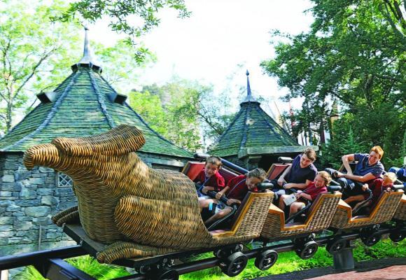 A Orlando, aux Etats-Unis, l'un des grands huit de Harry Potter. En 2010, une première zone dédiée au jeune sorcier ouvrait ses portes.