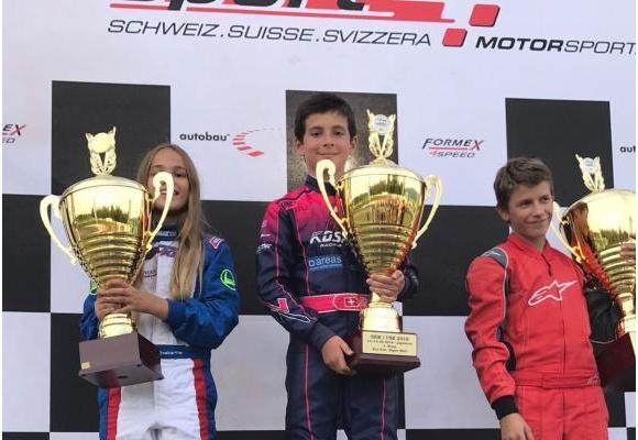 Shannon est le seul élève romand âgé de  12 ans à avoir été sacré champion suisse! DR