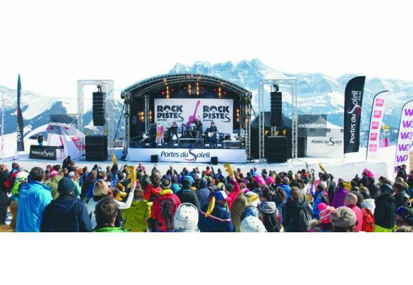 Ski, neige et musique: un cocktail explosif qui attire la foule  chaque année. JB BIEUVILLE