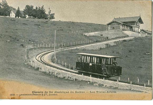 La gare des Treize-Arbres, terminus de la ligne au départ d'Etrembières, inaugurée en 1892. DR