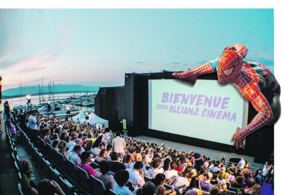 Les cinéphiles se presseront sur l'esplanade du Port-Noir pour une nouvelle édition de l'Allianz Cinéma Genève. PHOTO MONTAGE DR/123RF ALEXANDER TOLSTYKH