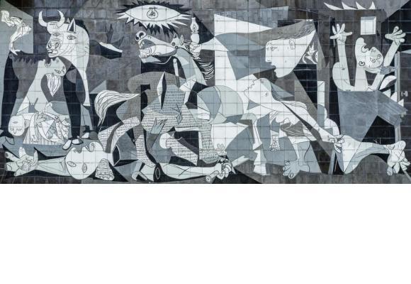 «Guernica», la célèbre œuvre de Pablo Picasso. Certains enseignants sous-estiment l'immanente noirceur de la nature humaine. 123RF/TICHR