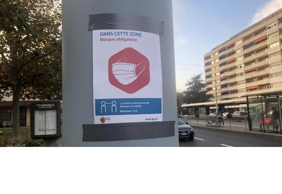 A Thônex, le port du masque est désormais obligatoire aux abords du centre commercial