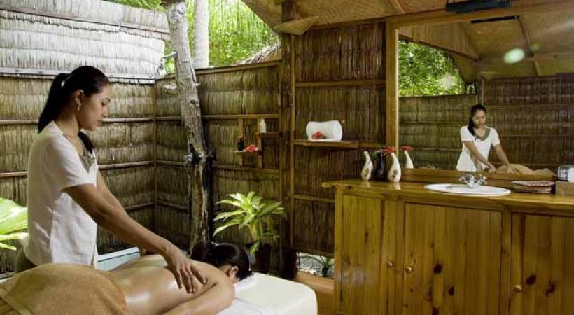 Massage à Vilu Reef.