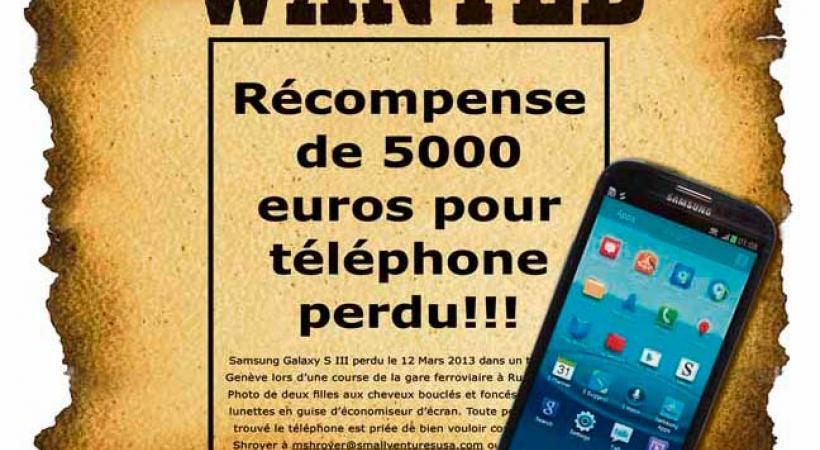 Un Texan offre 5000 euros pour son natel perdu