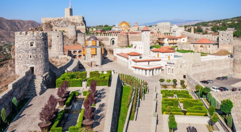 Le château de Rabati à Akhaltsikhé, en Géorgie.