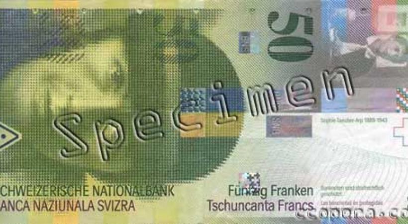 Taeuber-Arp sur le billet de 50 francs suisse.